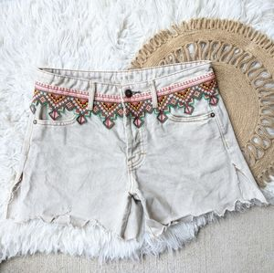 We the Free Embroidered Cut-off Shorts